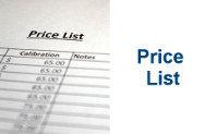 Calibration Price List